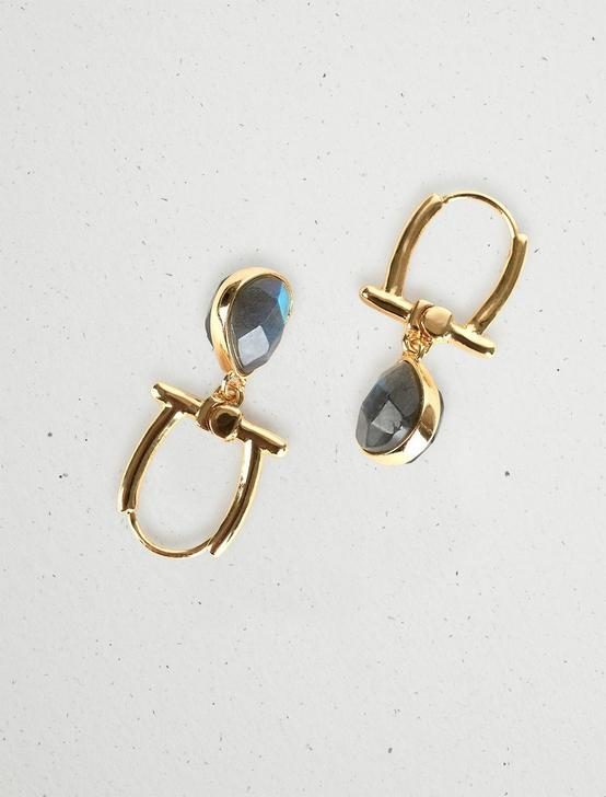 LABRADORITE TEARDROP EARRING, GOLD, productTileDesktop