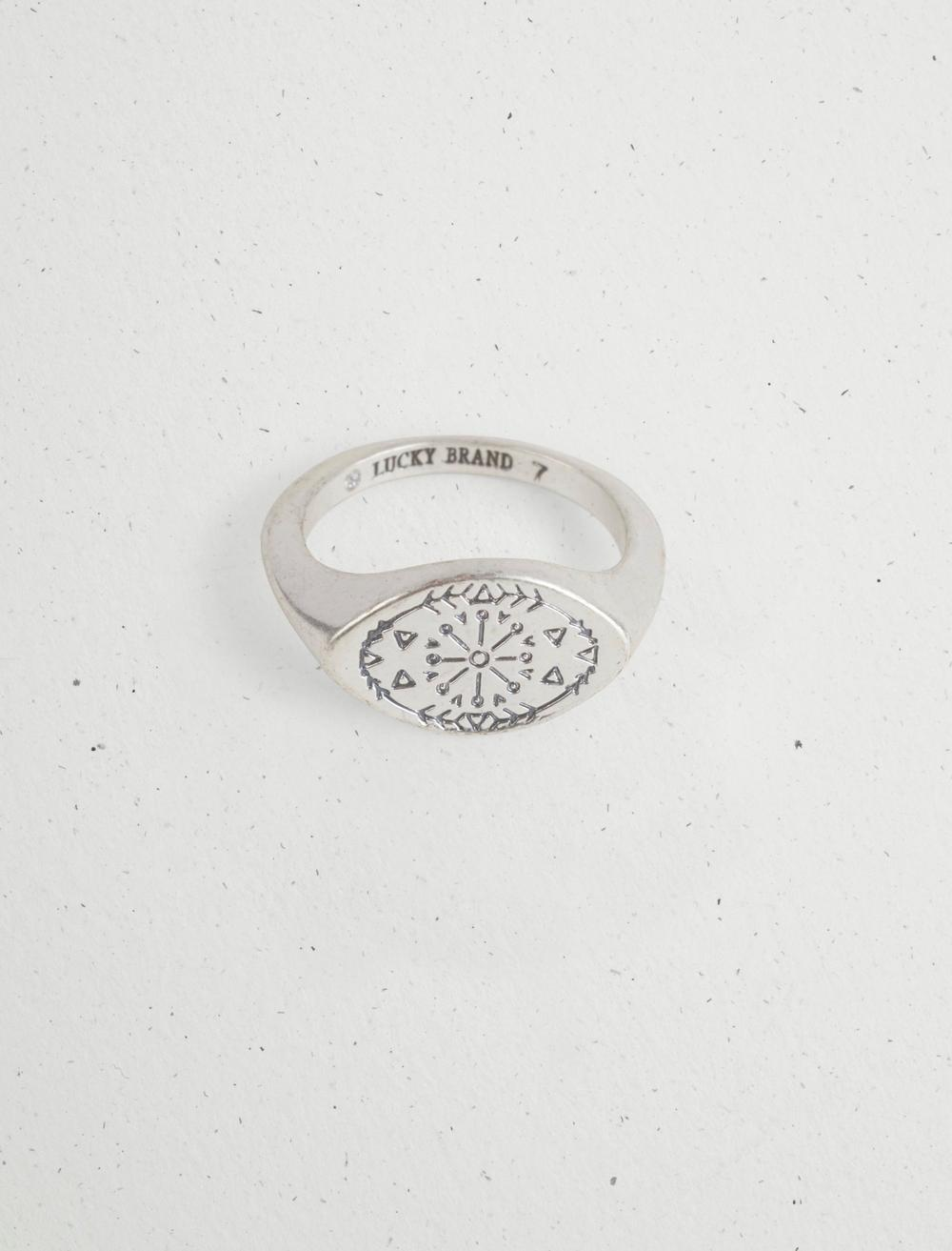 ETCHED SIGNET RING, image 1