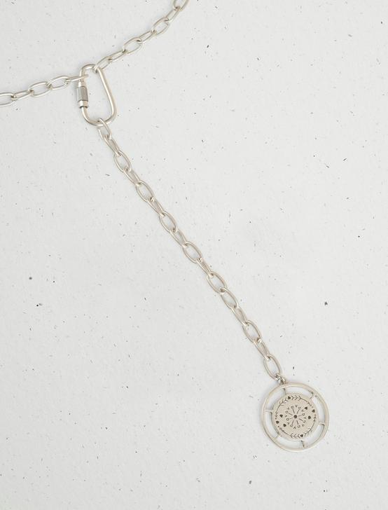 ETCHED COIN STATEMENT LARIAT, SILVER, productTileDesktop