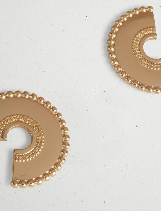 HOOP SLICE EARRING, GOLD, productTileDesktop