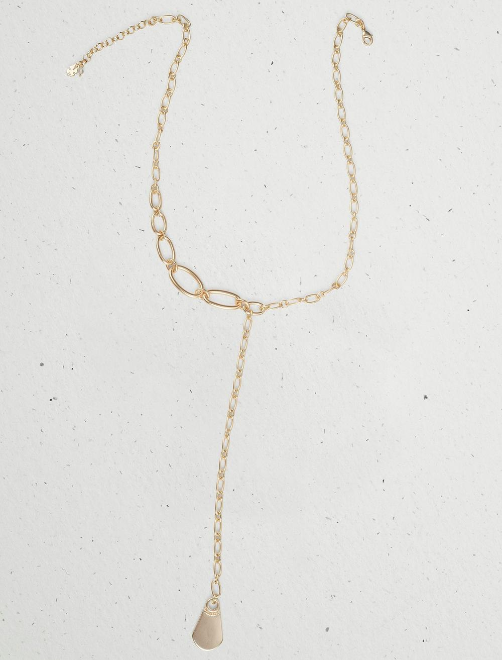 ASYMMETRICAL CHAIN Y NECKLACE, image 1