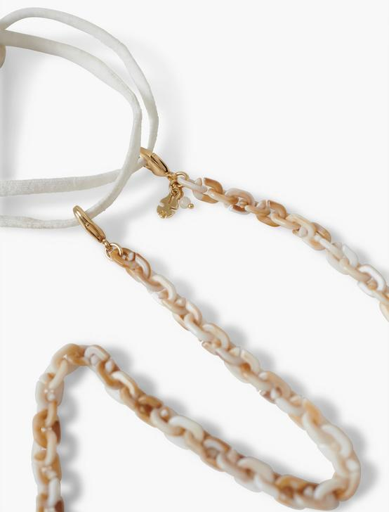 ACETATE CHUNKY MASK CHAIN, GOLD, productTileDesktop