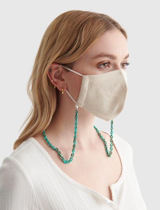 ACETATE CHUNKY MASK CHAIN