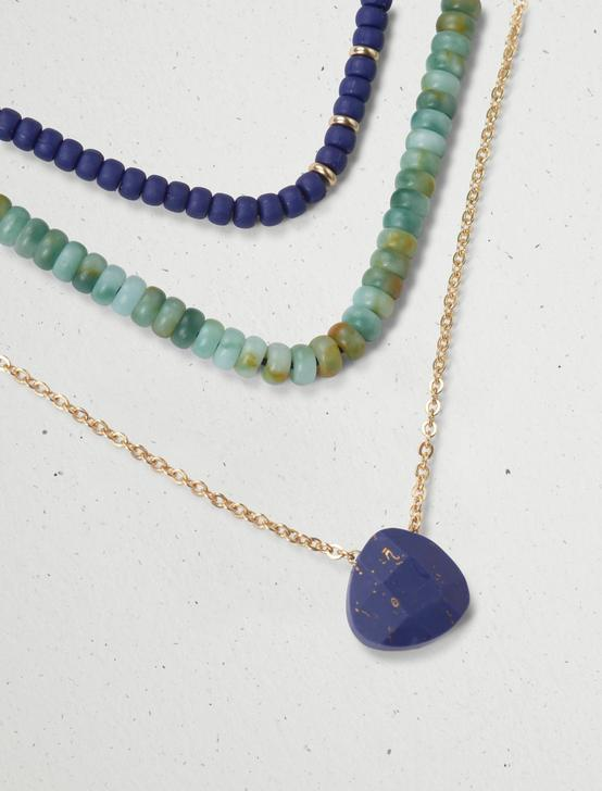 BEADED LAYER NECKLACE, GOLD, productTileDesktop