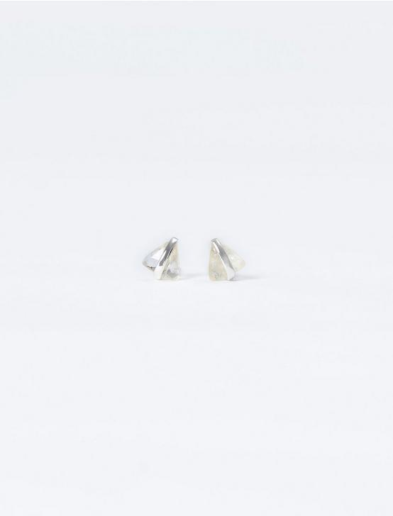 CITRINE WRAP STUD EARRING, SILVER, productTileDesktop