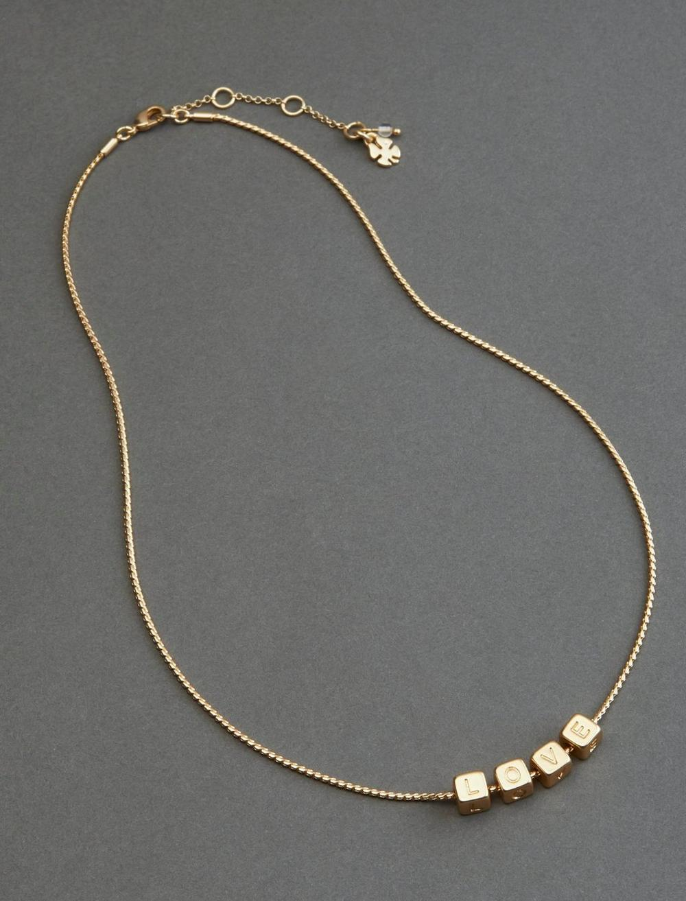 PAVE LOVE BEADED COLLAR NECKLACE, image 1