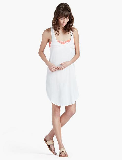 ad5f145cdffc4 White Beach Pocket Dress