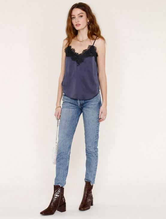 LACE TRIM CAMI, NAVY, productTileDesktop