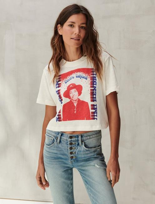 JIMI HENDRIX ELECTRIC GRAPHIC TEE, LUCKY WHITE