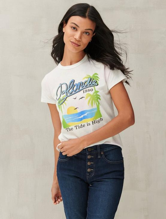 BLONDIE TIDE GRAPHIC TEE, BLUE MULTI, productTileDesktop