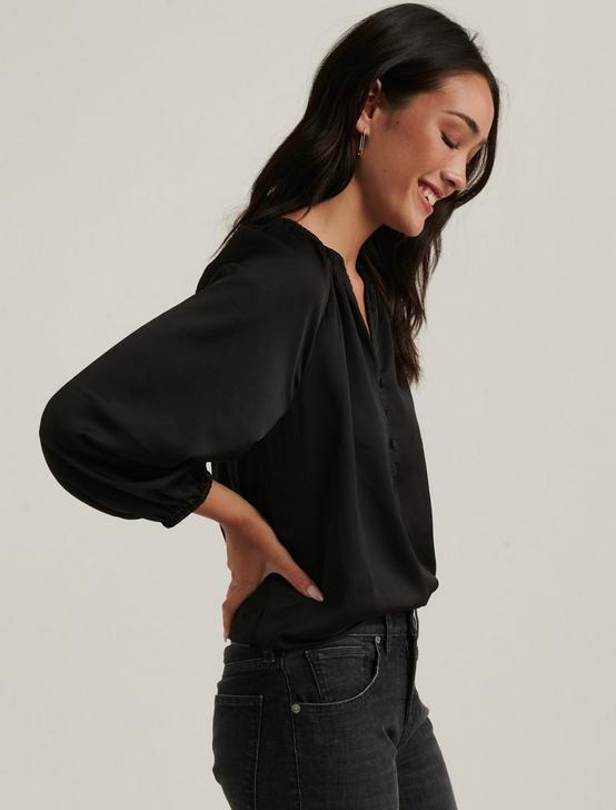 SATIN EMILY BLOUSE, 001 LUCKY BLACK, productTileDesktop