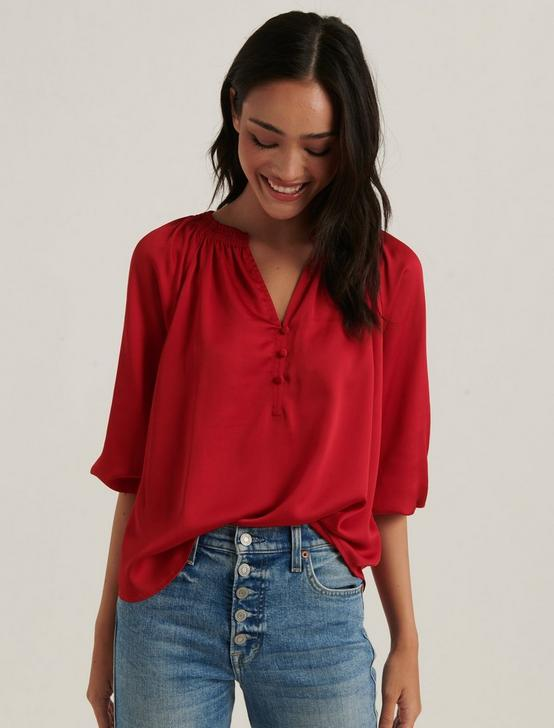 SATIN EMILY BLOUSE, 636 RED, productTileDesktop