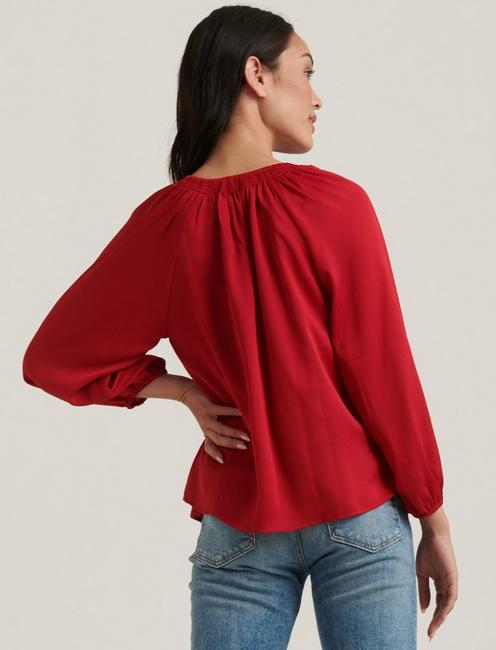 SATIN EMILY BLOUSE, 636 RED