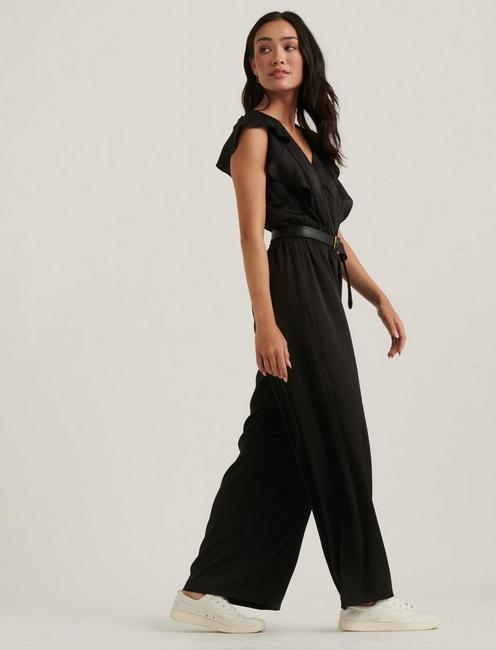 MADISON RUFFLE JUMPSUIT, 001 LUCKY BLACK