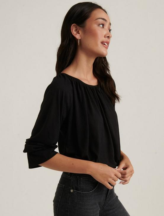 Bell Sleeve Knit Top, 001 LUCKY BLACK, productTileDesktop