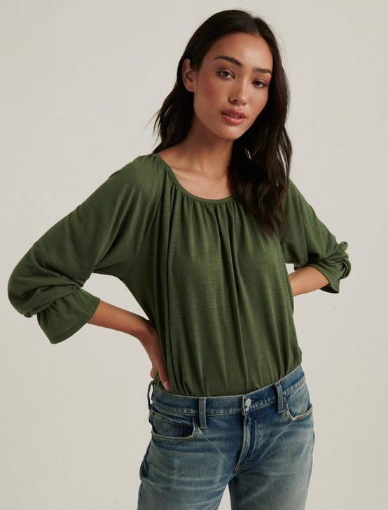 Bell Sleeve Knit Top, OLIVINE, productTileDesktop