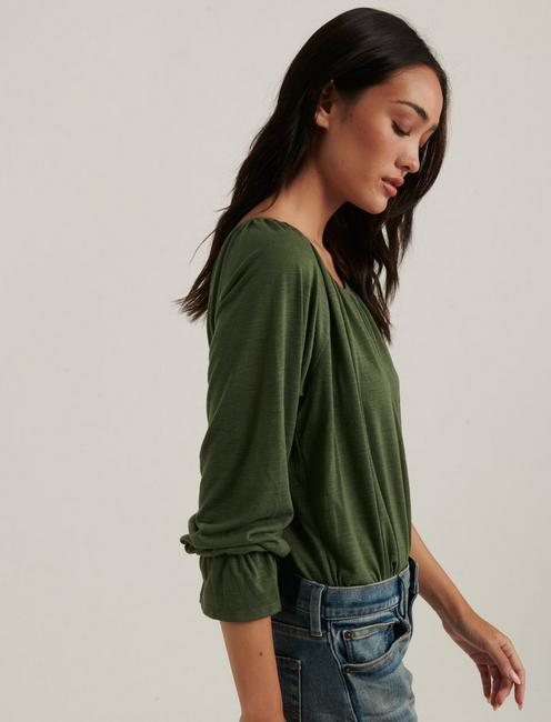 Bell Sleeve Knit Top, OLIVINE