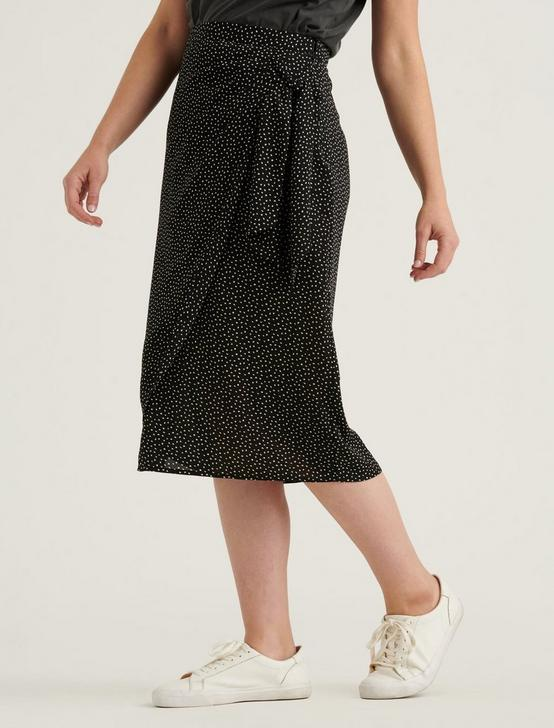 SIDE TIE MIDI SKIRT, BLACK MULTI, productTileDesktop
