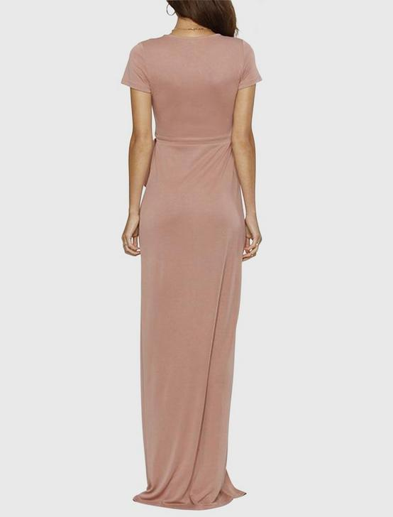 Maxi Wrap Dress, ROSE, productTileDesktop