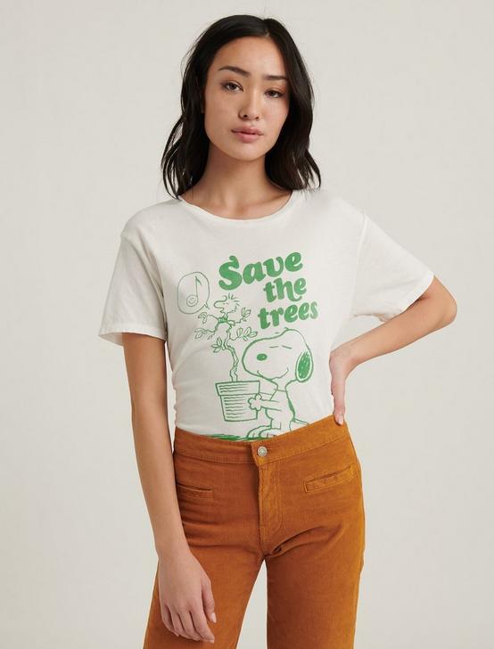 SNOOPY TREES TEE, WHITE MULTI, productTileDesktop