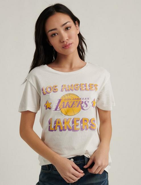 LA LAKERS TEE, WHITE MULTI
