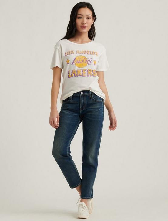 LA LAKERS TEE, WHITE MULTI, productTileDesktop