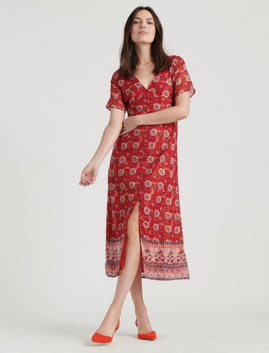 LOUISE MISHA STREE DRESS, RED MULTI, productTileDesktop