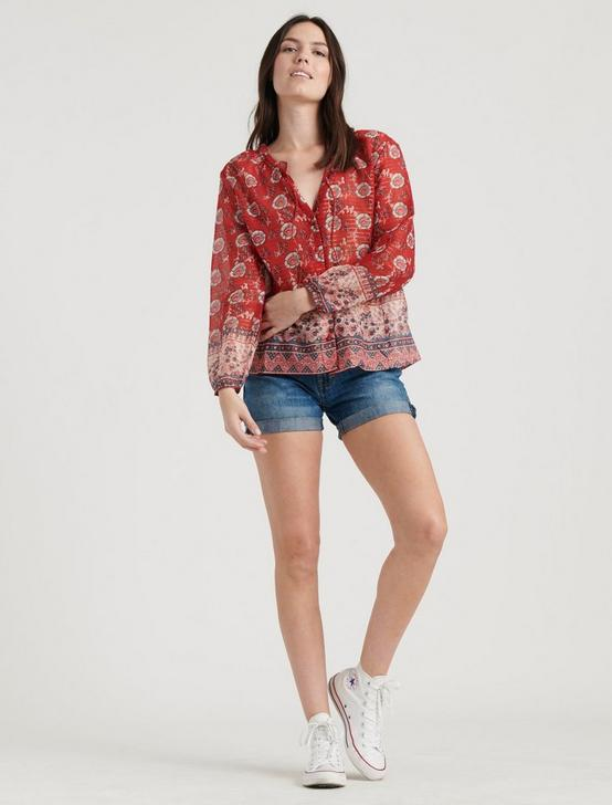 LOUISE MISHA PAPAYA BLOUSE, RED MULTI, productTileDesktop