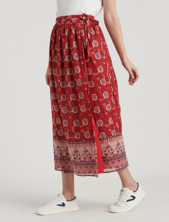 LOUISE MISHA MIMILA SKIRT, RED MULTI, productTileDesktop