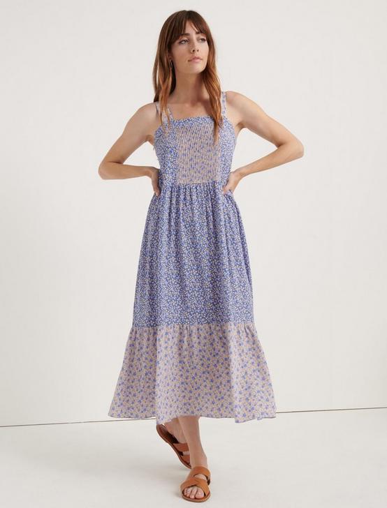 CREPE PRAIRIE DRESS, BLUE MULTI, productTileDesktop