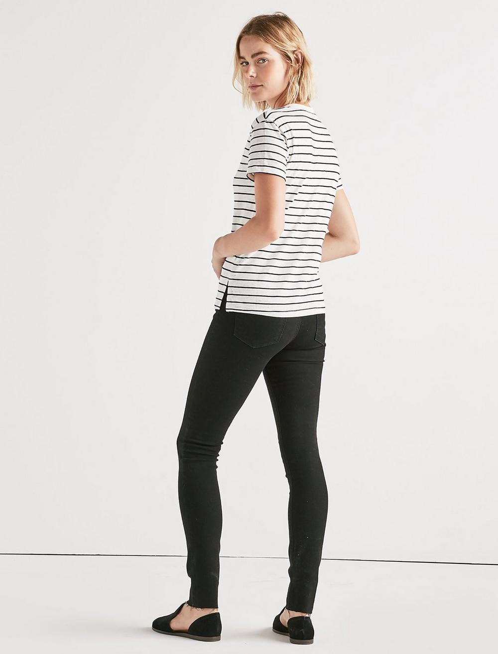THE ANGELES V NECK STRIPED TEE., image 3