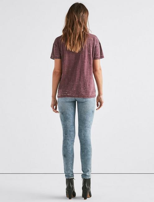 VENICE BURNOUT V-NECK TEE, 346 FIG
