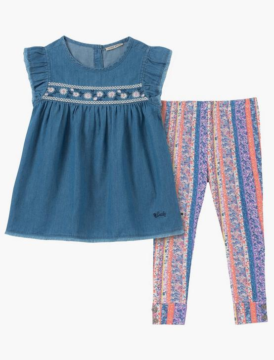12M-24M TWO PIECE DENIM AND LEGGING SET
