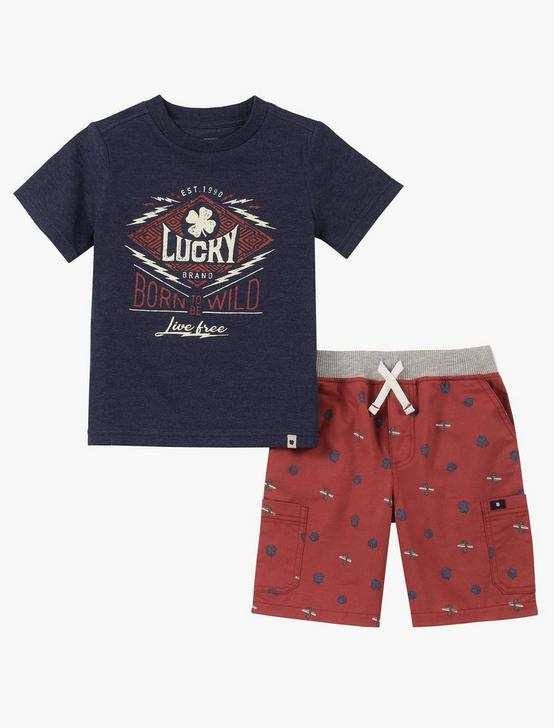 12M-24M NAVY SHIRT AND SHORT SET, RED MULTI, productTileDesktop