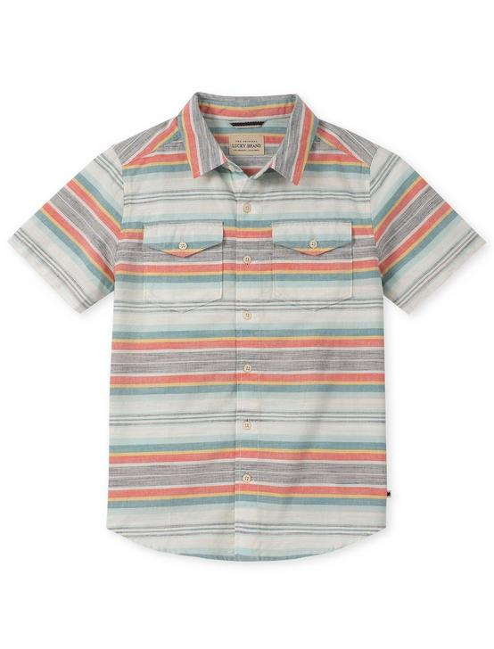 BOYS S-XL S/S SAMUEL WOVEN, NATURAL, productTileDesktop
