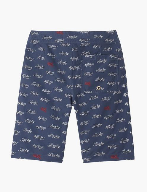 BOYS 8-20 LUCKY YOU BOARDSHORT SWIM, NAVY
