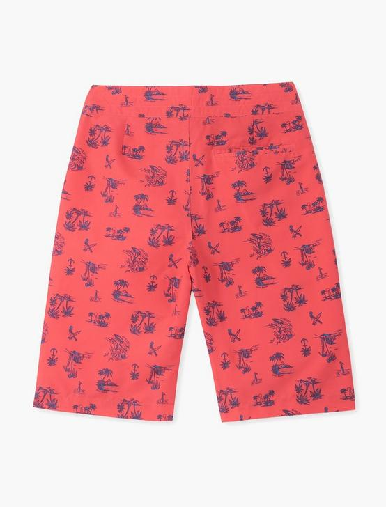 BOYS 8-20 PRINTED SURFBOARD SWIM, MEDIUM RED, productTileDesktop
