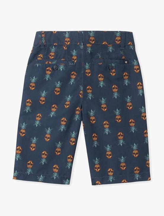 BOYS 8-20 PINEAPPLE SKULL PRINT SWIM, NAVY, productTileDesktop