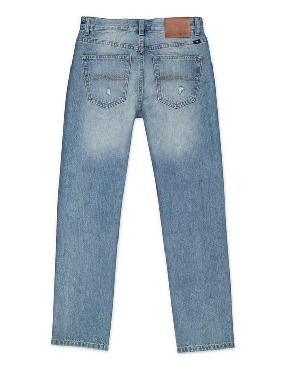BOYS 8-20 5 POCKET STRETCH DENIM, OCEAN BLUE, productTileDesktop