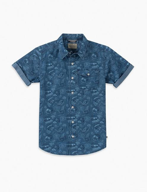 BOYS S-XL S/S BEARS UP WOVEN,
