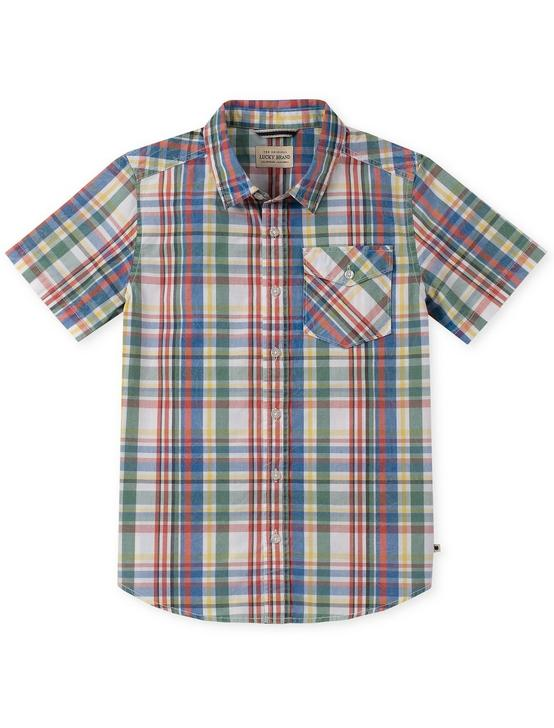 LITTLE BOYS 5-7 SHORT SLEEVE WOVEN TOP