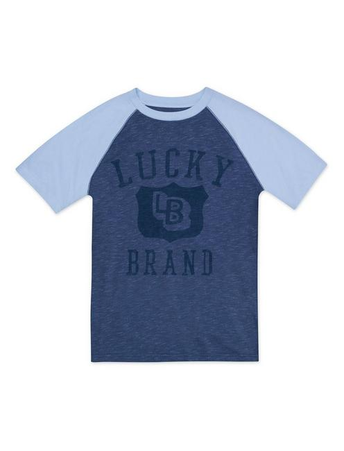BOYS S-XL SHEILDS TEE, NAVY