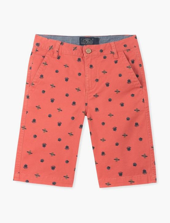 PRINTED BEAR SURFER  SHOR, DARK RED, productTileDesktop