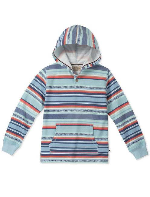 Boys S-Xl Striped Printed Hoody