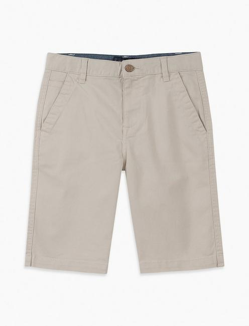 Boys 8-20 Solid Flat Front Short