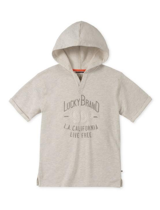 LITTLE BOYS 5-7 S/S HOODY, NATURAL, productTileDesktop