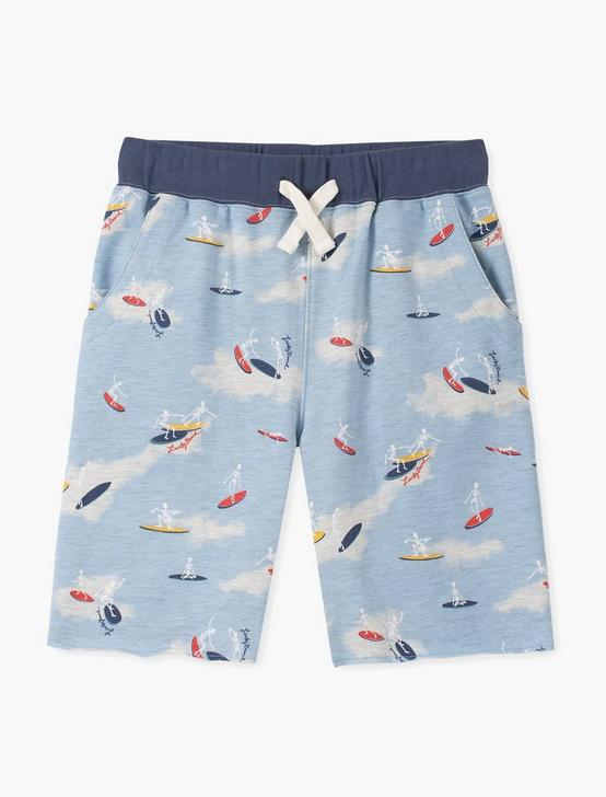 LITTLE BOYS 5-7 ALLOVER PULL ON PRINT SHORT, LIGHT BLUE, productTileDesktop