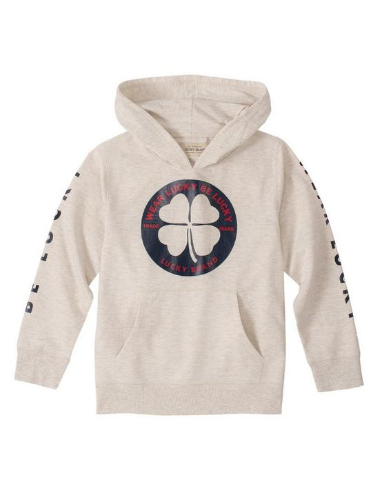 BOYS S-XL BE LUCKY HOODIE, NATURAL, productTileDesktop