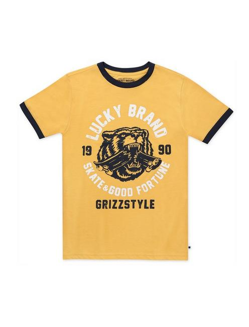 LITTLE BOYS 5-7 GRIZZSTYLE TEES, GOLD