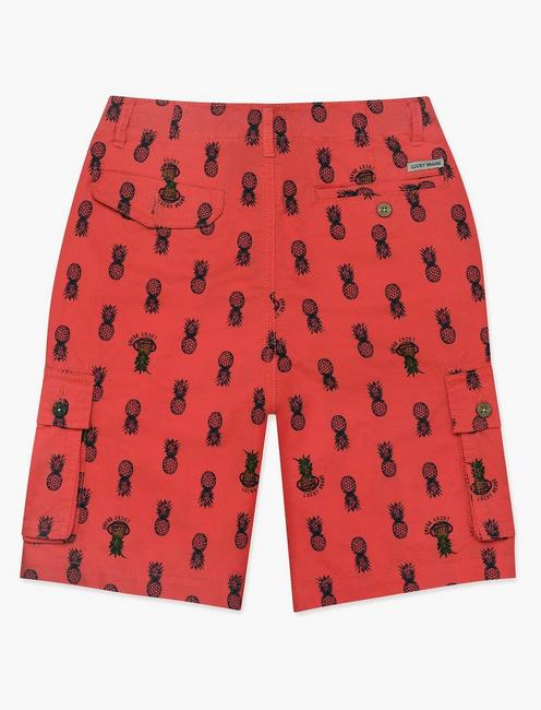 LITTLE BOYS 5-7 CARGO SHORTS, BRIGHT RED